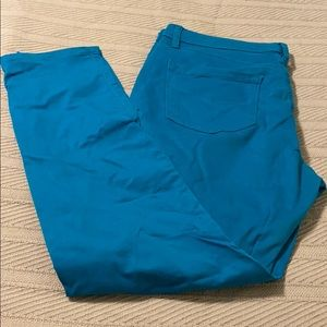 Loft Turquoise Curvy Skinny Jeans